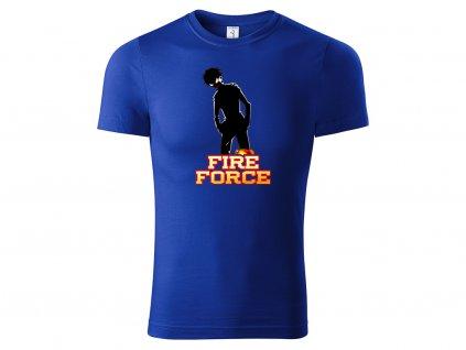 Tričko Fire Force modré