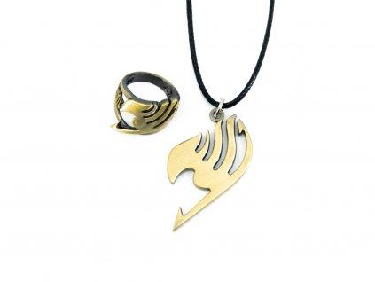 Set prstenu a náhrdelníku Fairy Tail