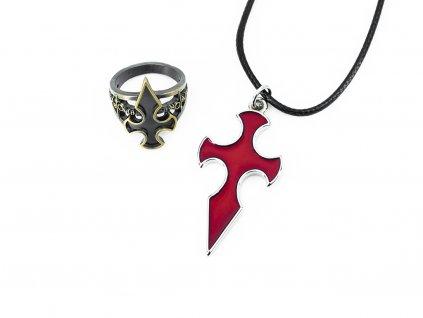 Set prstenu a náhrdelníku Knights of the Blood Oath