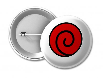 BUTTONJ 50 Uzumaki Klan red na web