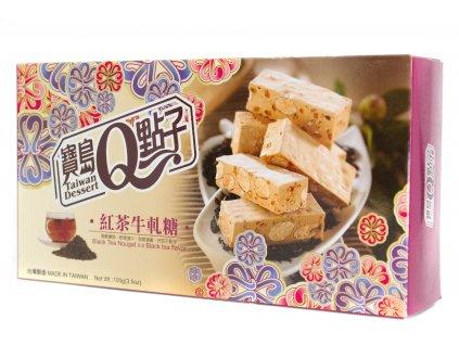 He Fong Mochi kostky černý čaj a nugát 100g