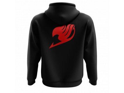 Mikina FT logo RED BACK ČERNÁ 2.0