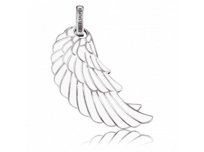 Strieborné krídlo zdobené smaltom