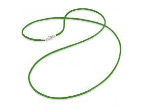 Zelená saténová šnúrka