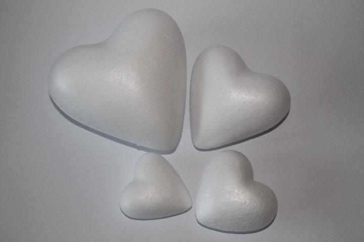 Polystyrénové srdiečka