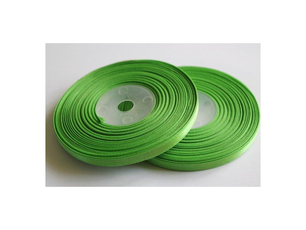 Saténová stuha 6mm A022 smaragdová