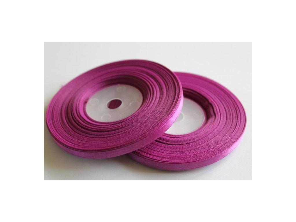 Saténová stuha 6mm A018 purpurová svetlá