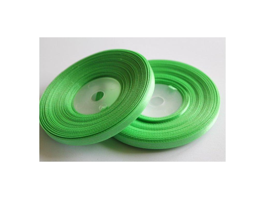Saténová stuha 6mm A048 limetková zelená