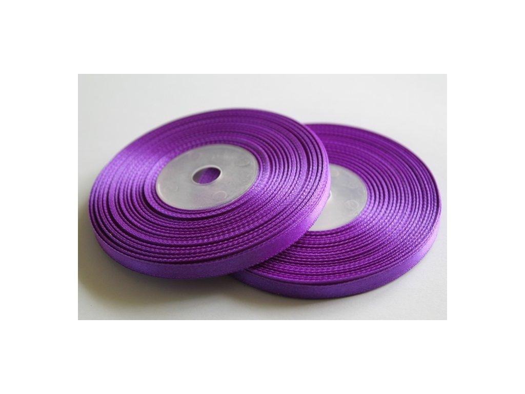 Saténová stuha 6mm A044 tmavá fialová