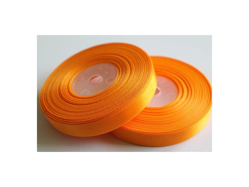Saténová stuha 12mm A011 svetlá oranžová