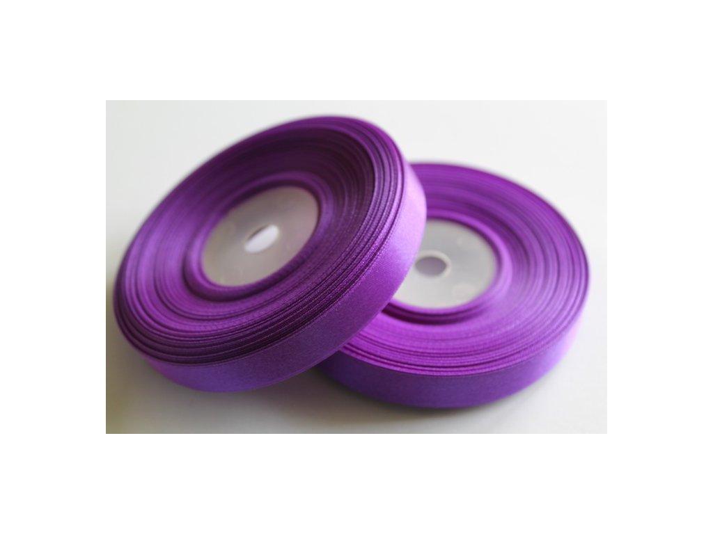 Saténová stuha 12mm A044 tmavá fialová