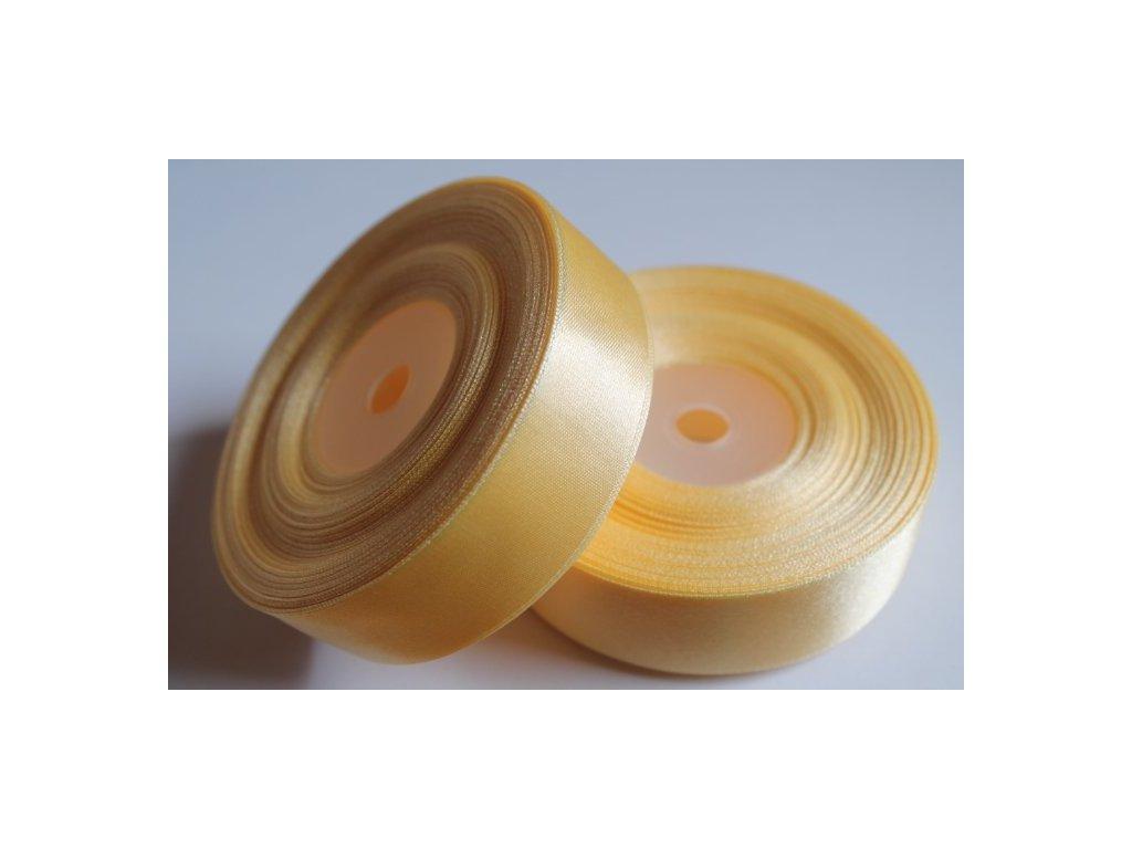 Saténová stuha 25mm A004 maslová