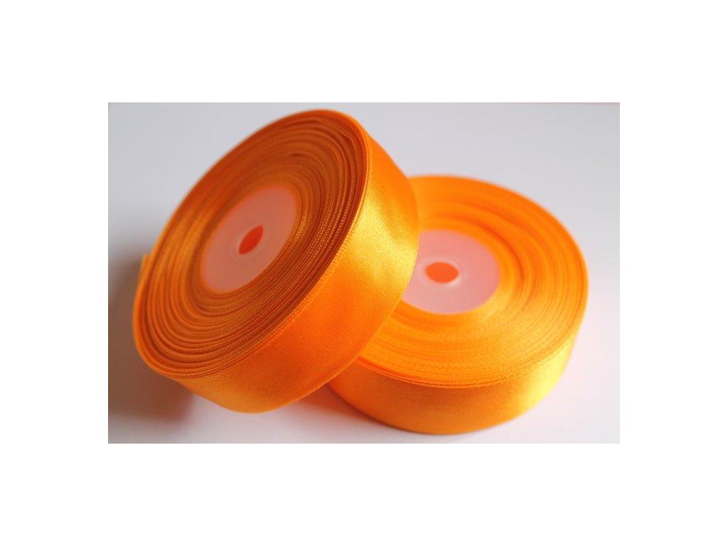 Saténová stuha 25mm A011 svetlá oranžová