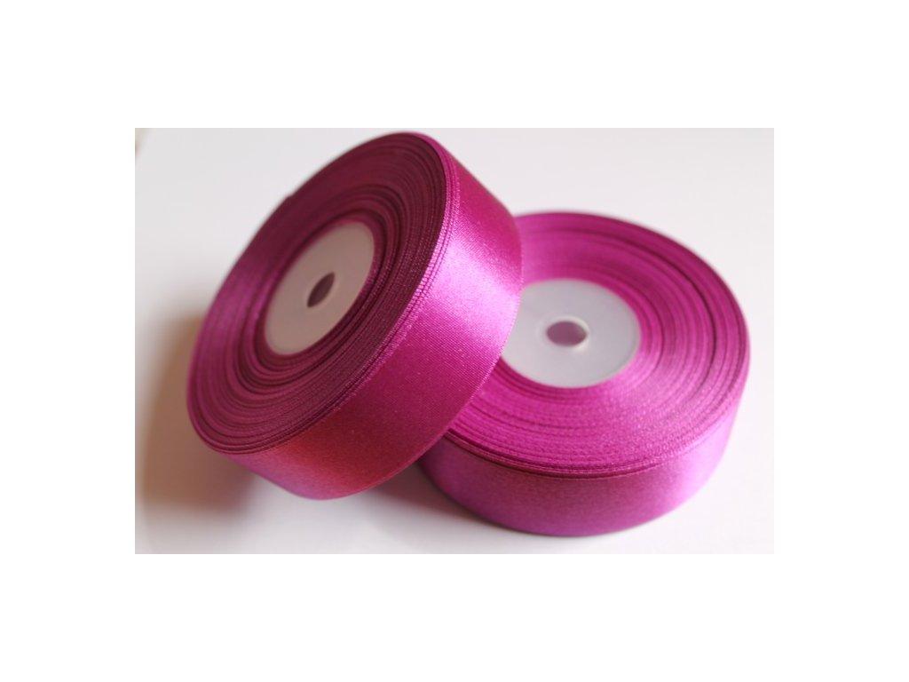 Saténová stuha 25mm A018 purpurová