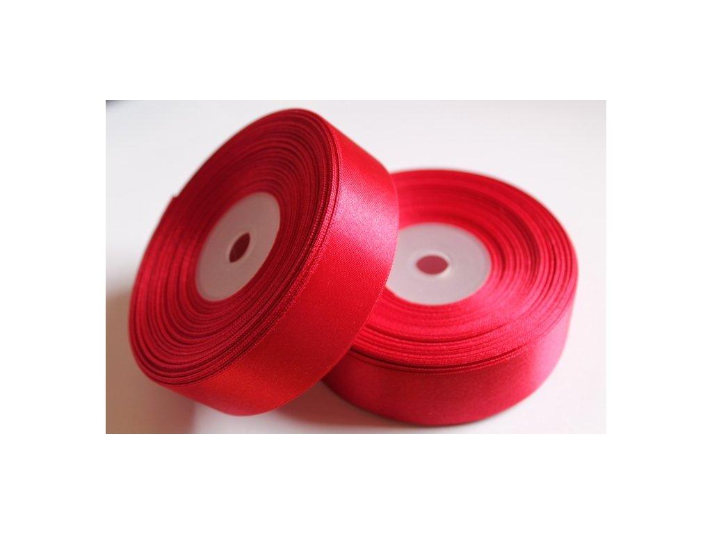 Saténová stuha 25mm A020 tmavá červená