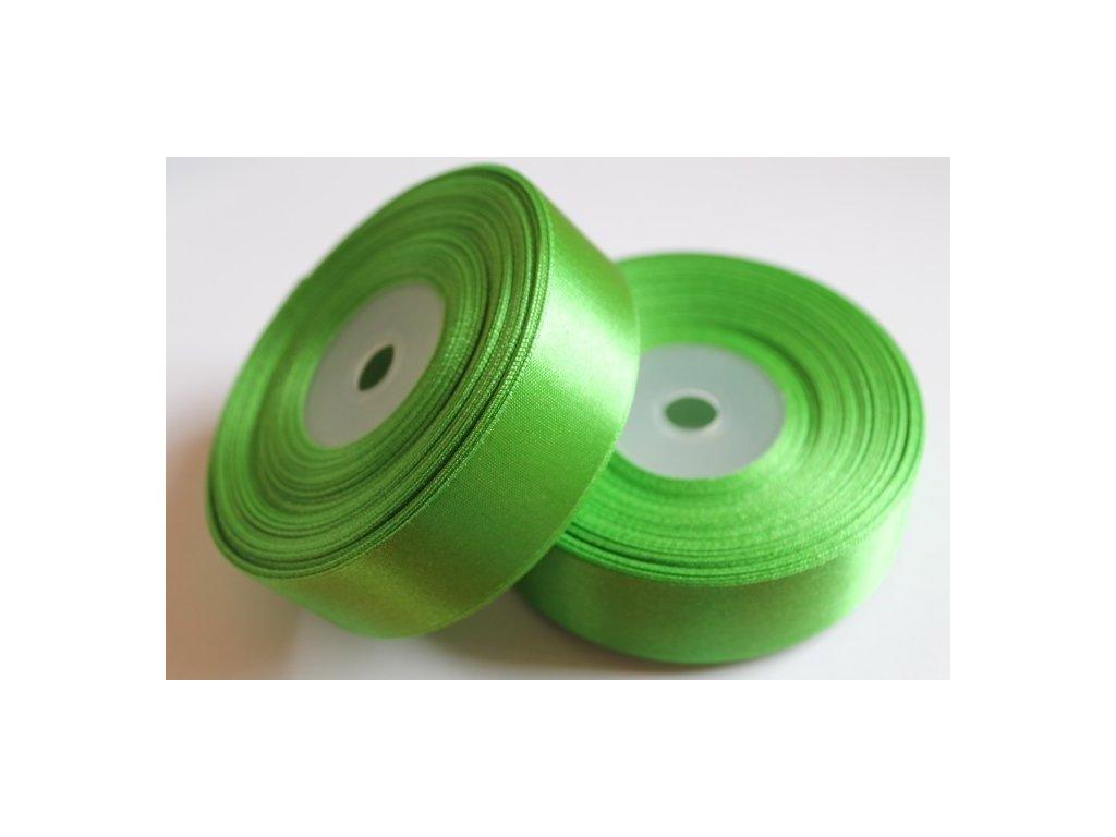 Saténová stuha 25mm A022 smaragdová zelená