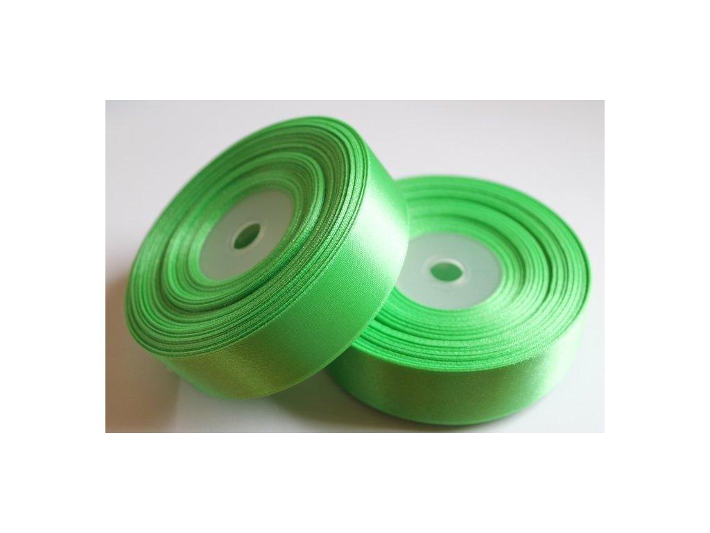 Saténová stuha 25mm A048 limetková zelená