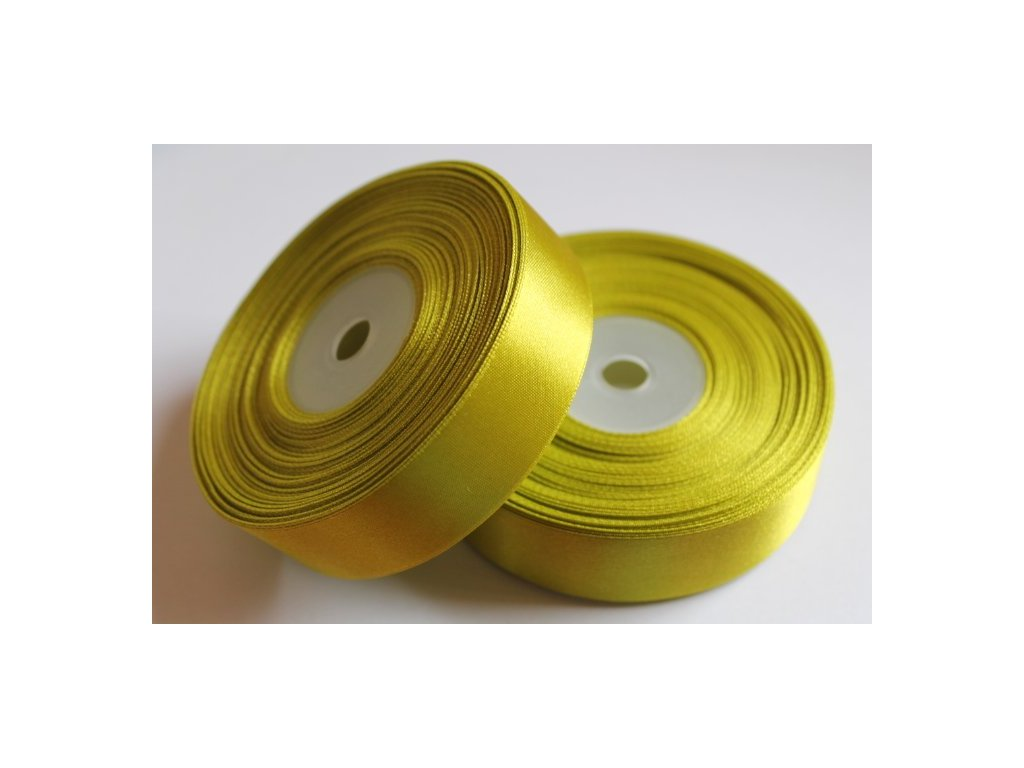 Saténová stuha 25mm A025 žiarivá zelená