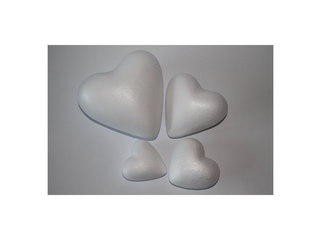 Polystyrénové srdce 7 cm