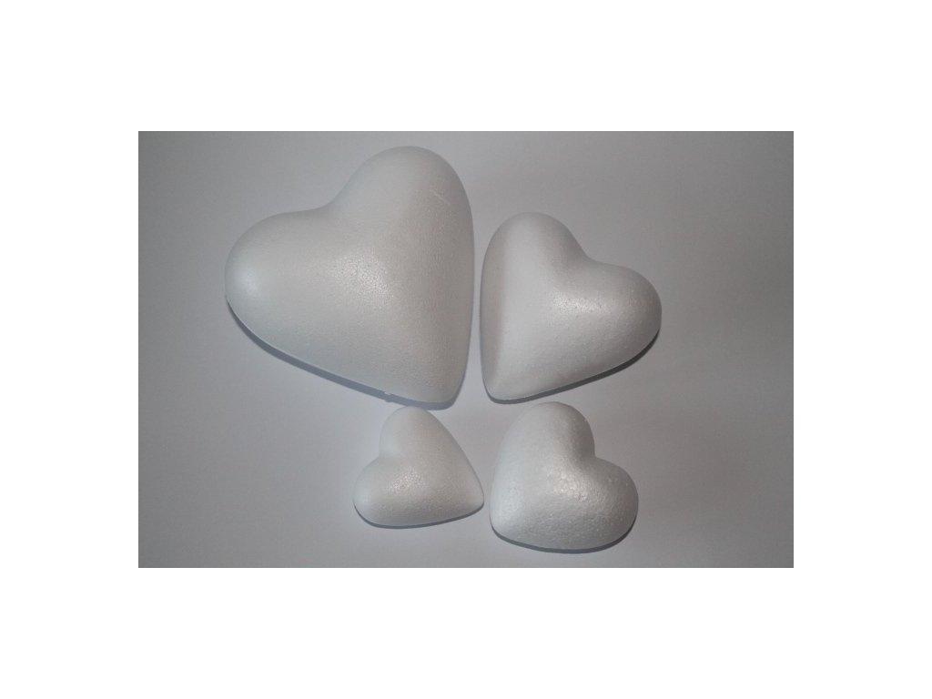 Polystyrénové srdce 11 cm
