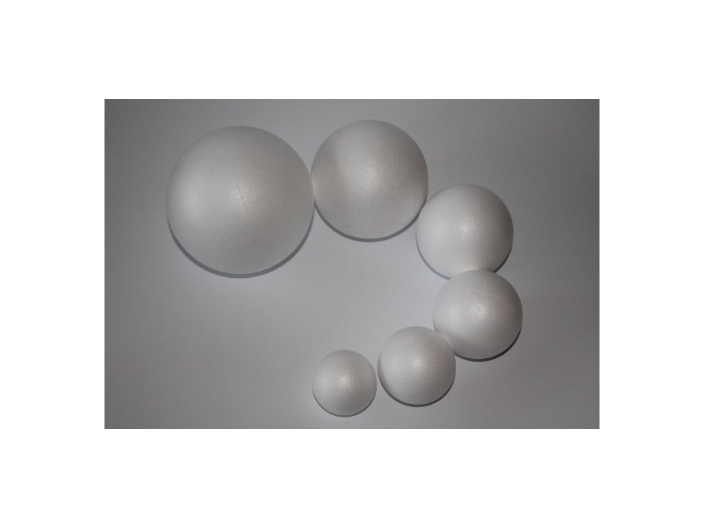 Polystyrénová guľa 12 cm