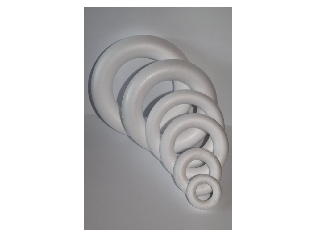 Polystyrénový venček 25 cm