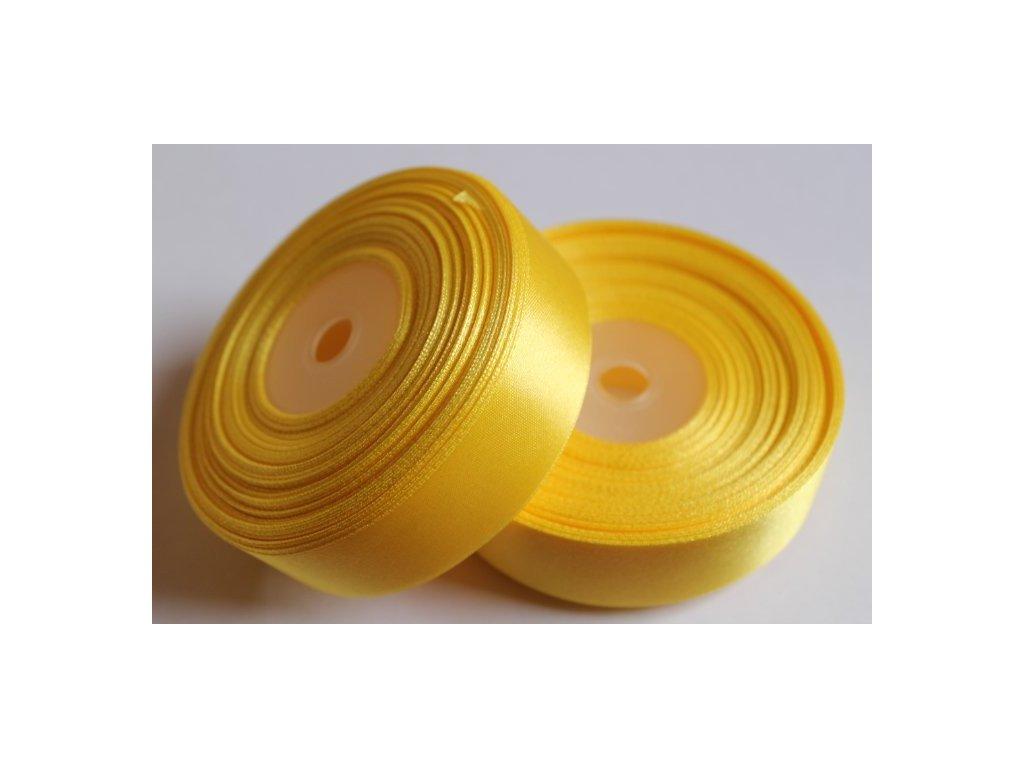 Saténová stuha 25mm A008 žltá