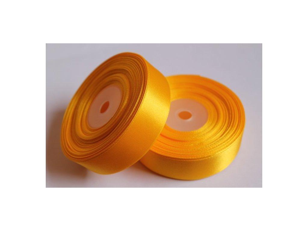 Saténová stuha 25mm A006 zlato žltá