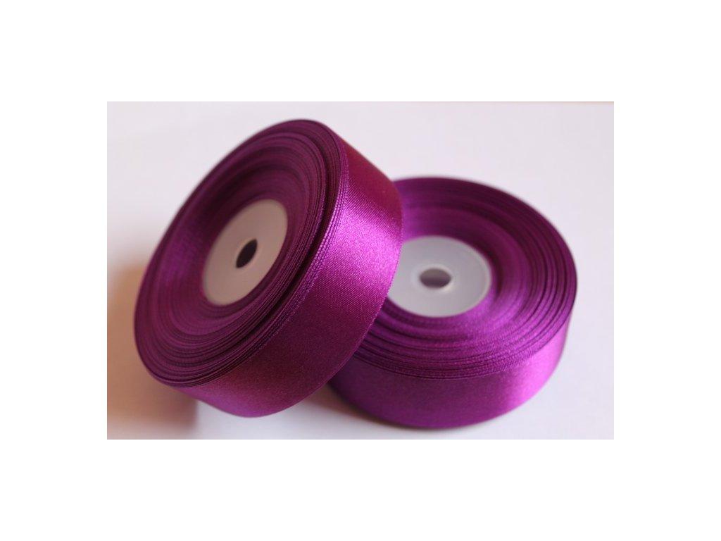 Saténová stuha 25mm A067 tmavá purpurová