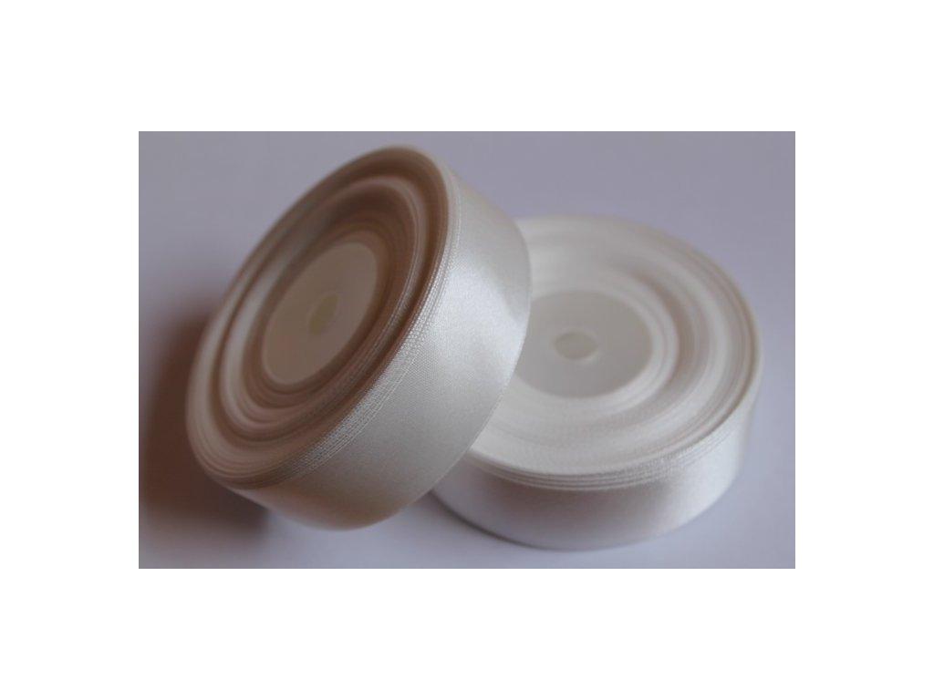 Saténová stuha 25mm A002 perleťovo biela