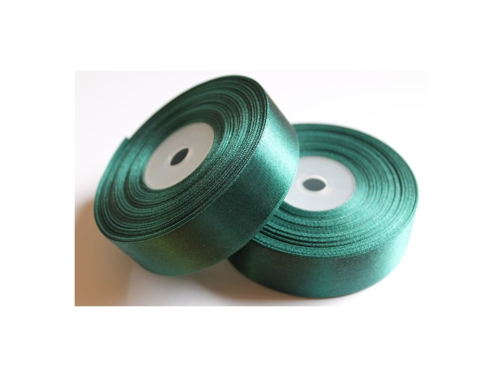 Saténová stuha 25mm A043 borovicová zelená