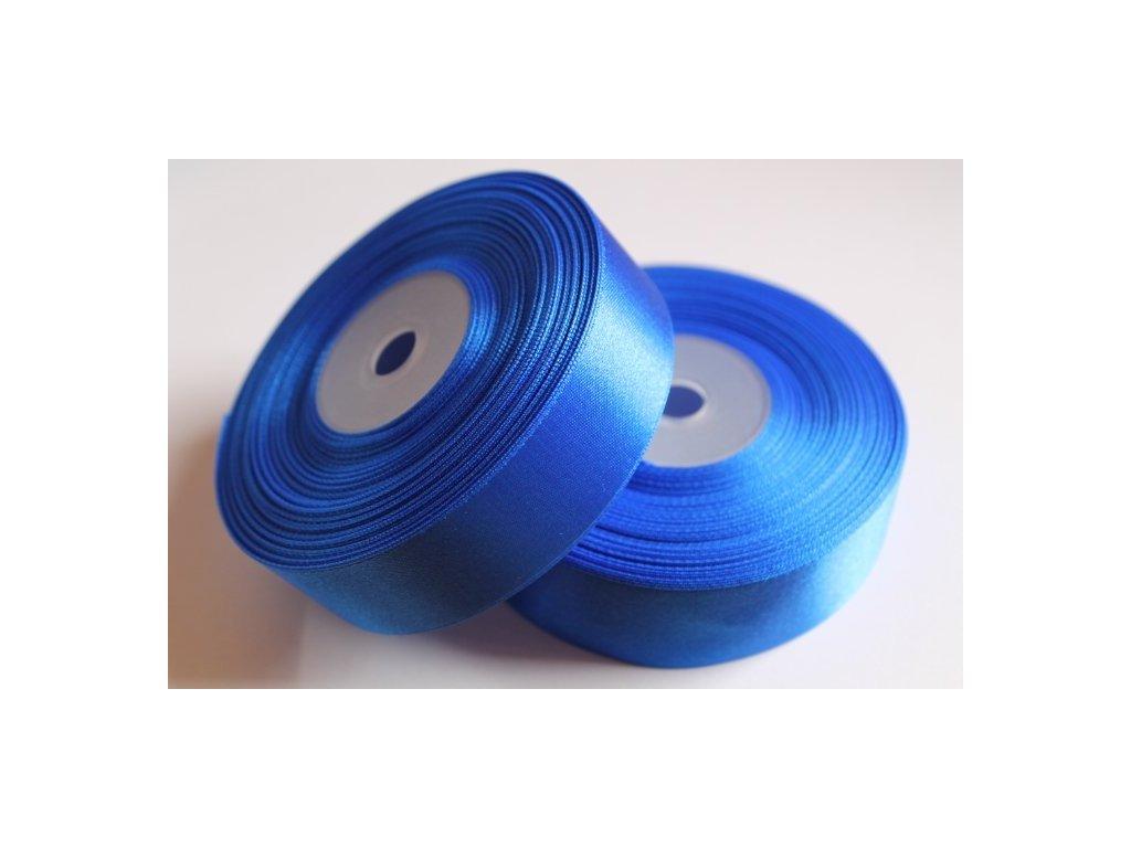Saténová stuha 25mm A031 elektrizujúca modrá