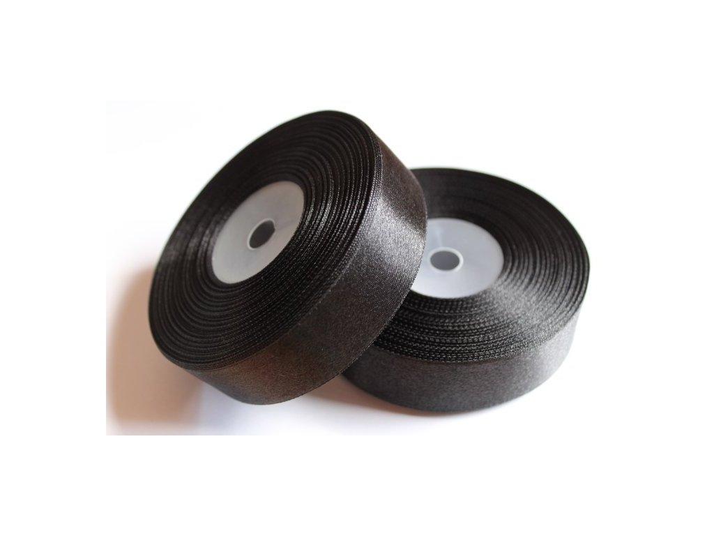 Saténová stuha 25mm A040 čierna