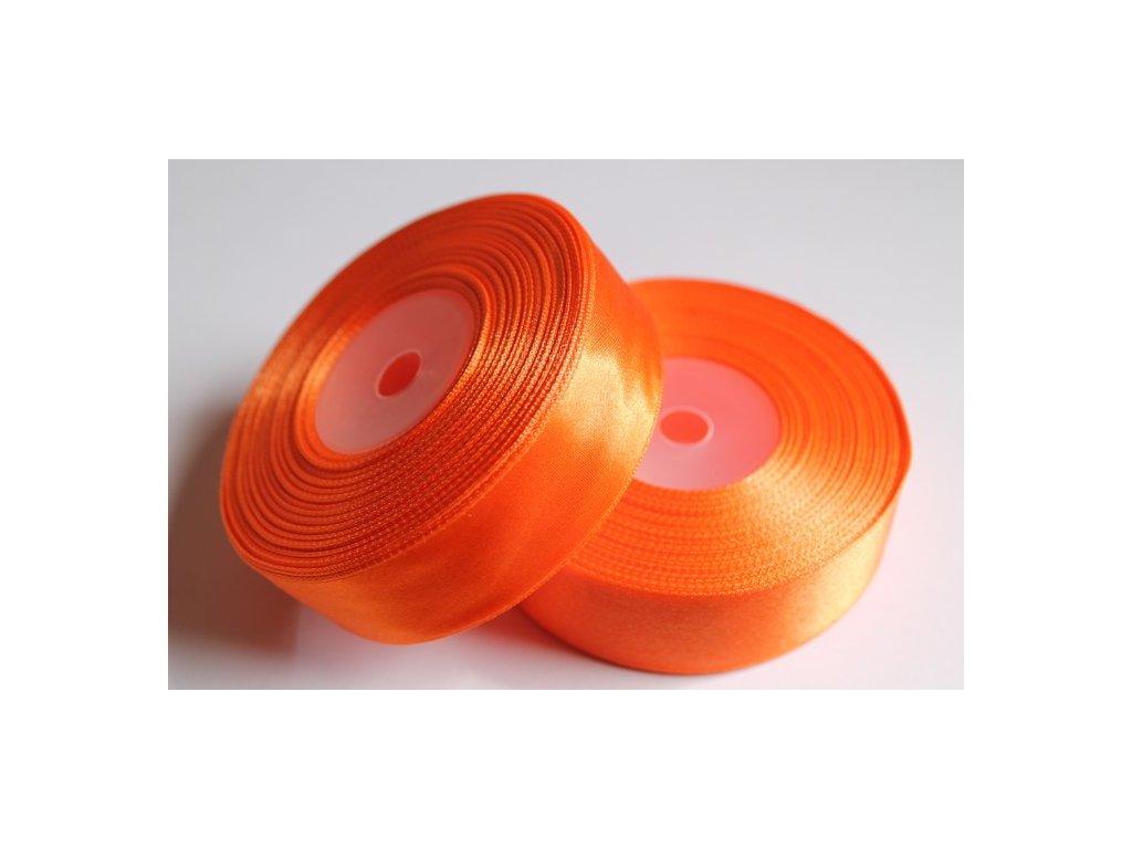 Saténová stuha 25mm A012 pomarančová