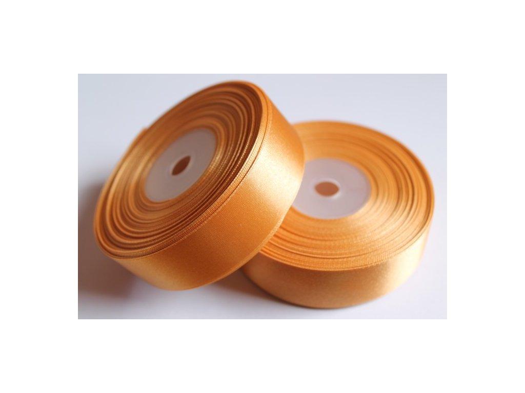 Saténová stuha 25mm A053 zlatá