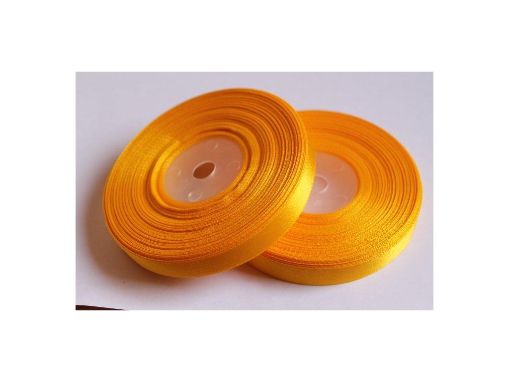 Saténová stuha 12mm A006 sýta žltá