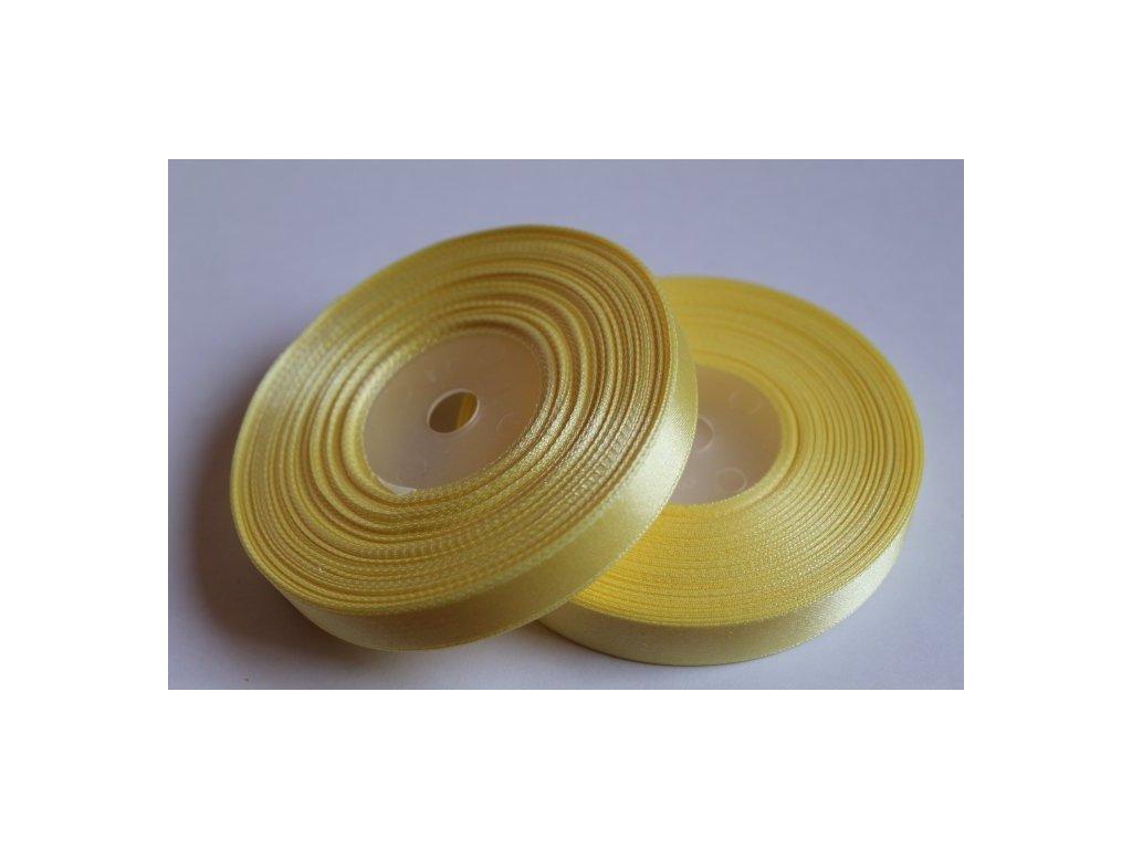 Saténová stuha 12mm A065 kanárska žltá