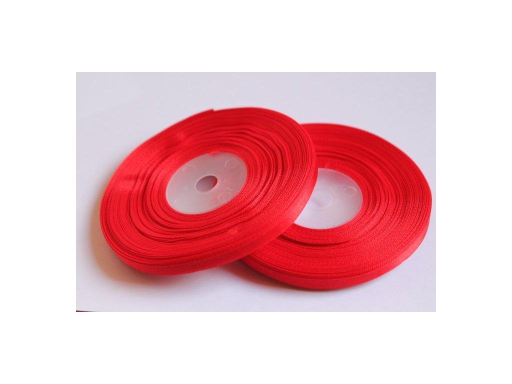 Saténová stuha 6mm A058 žiarivá červená