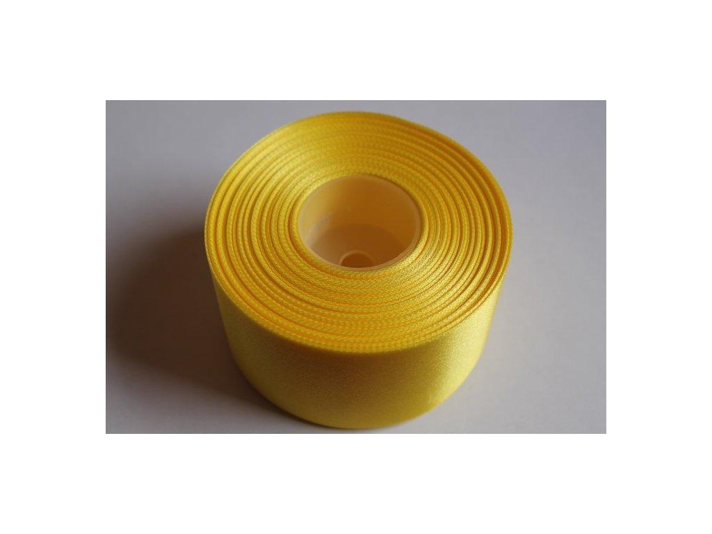 Saténová stuha 50mm A008 žltá