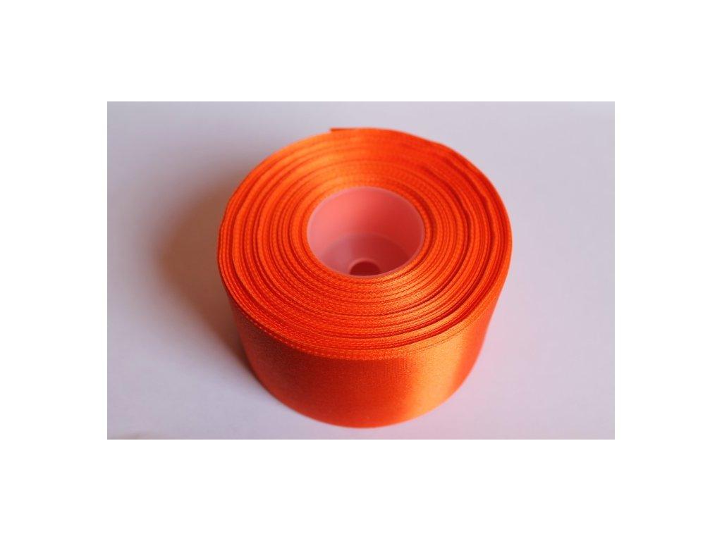 Saténová stuha 50mm A012 pomarančová