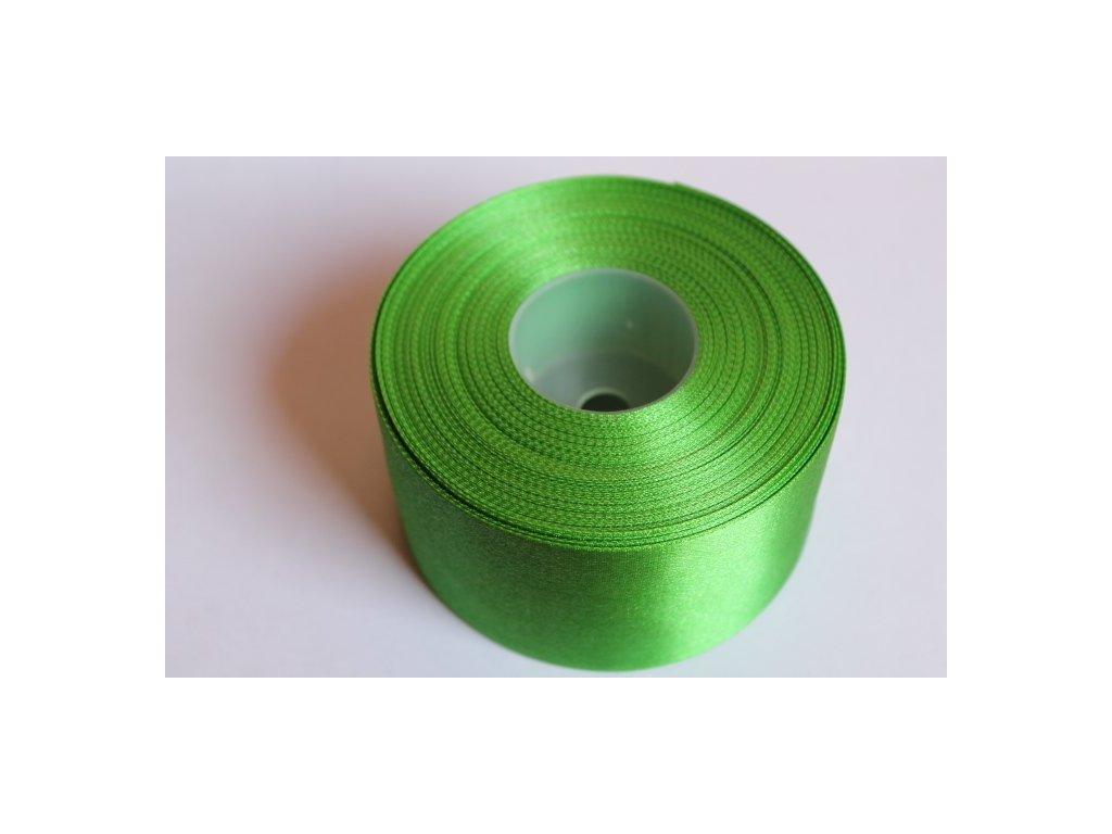 Saténová stuha 50mm A022 smaragdová