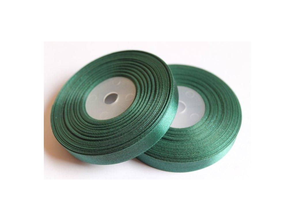 Saténová stuha 12mm A043 borovicová zelená