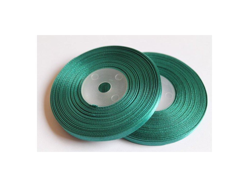 Saténová stuha 6mm A043 borovicová zelená