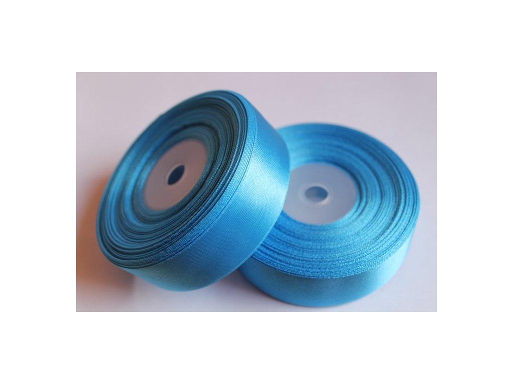 Saténová stuha 25mm A069 žiarivá modrá