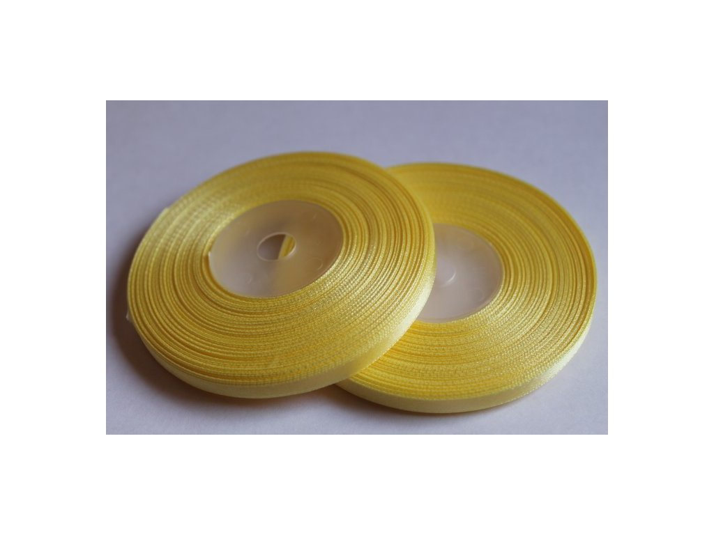 Saténová stuha 6mm A065 kanárska žltá