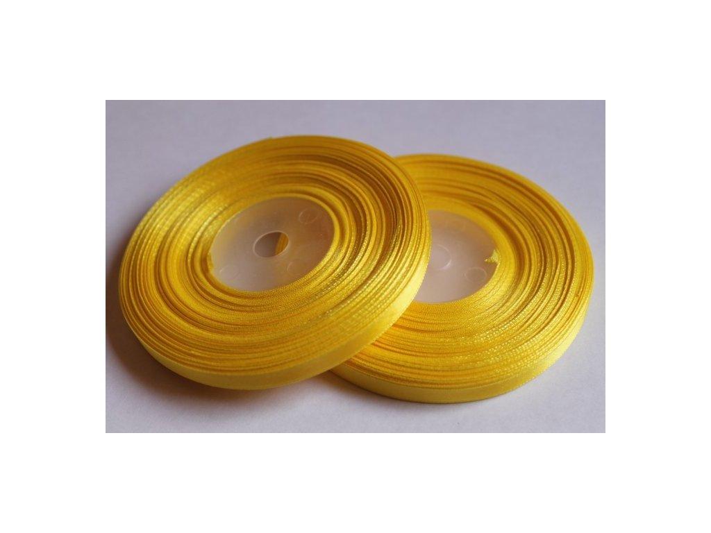 Saténová stuha 6mm A008 žltá