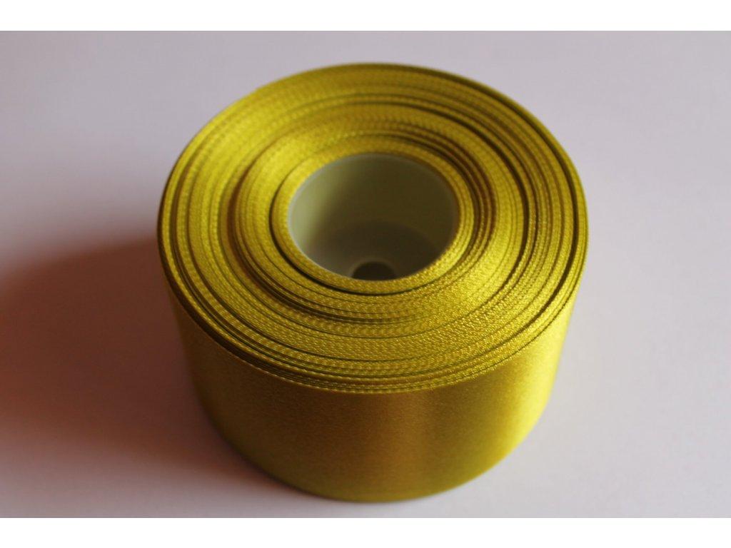 Saténová stuha 50mm A025 žiarivá zelená