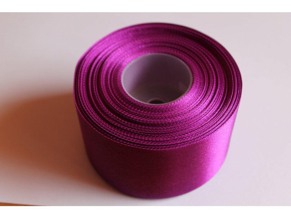 Saténová stuha 50mm A067 tmavá purpurová