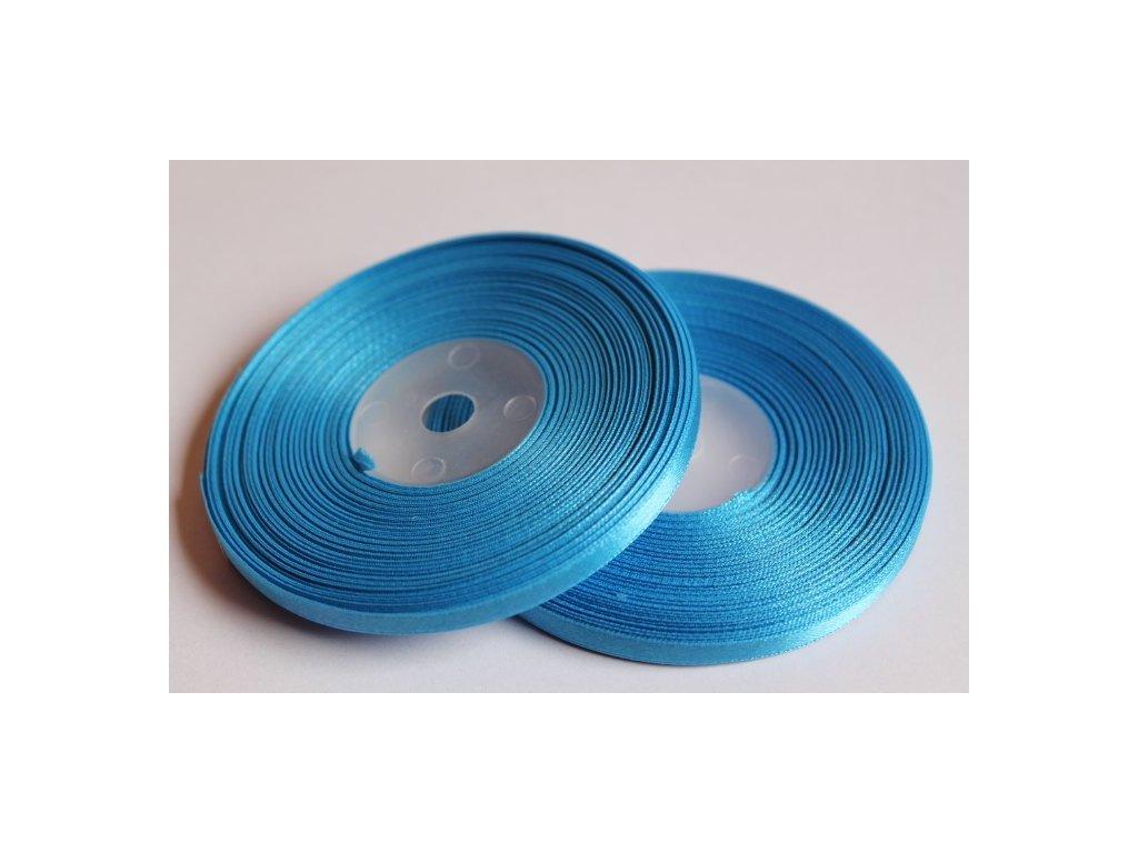 Saténová stuha 6mm A069 žiarivá modrá