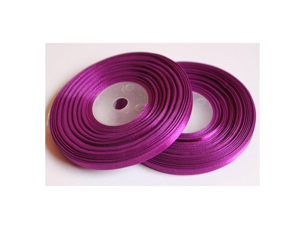 Saténová stuha 6mm A067 tmavá purpurová